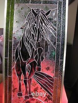 Stained Glass Window Panel Suncatcher Horse
