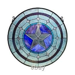 Stained Glass Window Panel Tiffany Style 24 Diamenter Art Glass Suncatcher