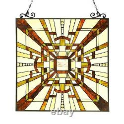 Stained Glass Window Panel Tiffany Style Arts & Crafts LAST ONE THIS PRICE