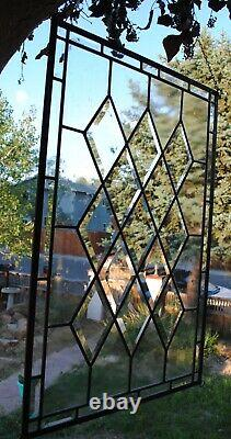 Stained Glass Window Panel antique beveled diamond clear