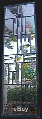 Stained Glass Window Panel clear transom sidelight bevel clear water