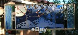 Stained Glass Window Panel wedding personalized trees Beveled Glass anniversary