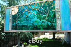 Stained Glass Window Panel wedding personalized trees Beveled anniversary