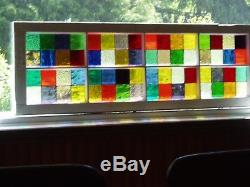 Stained Glass panel in old window frame