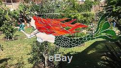 Stained glass mermaid Panel 15in x 44in
