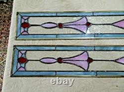 Stunning Stained Glass Panels (Pair Set of 2) 35.5 x 4.5