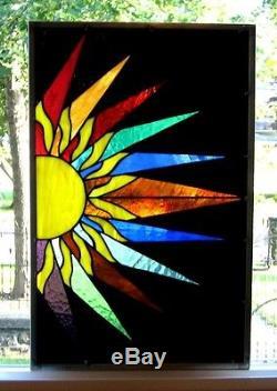 Sunburst Stained Glass Window Panel EBSQ Artist