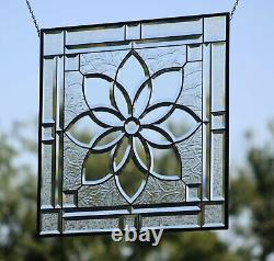 Sunny Beveled Stained Glass 4 SQFT. Ready to Hang