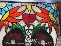Sweveneers Sugar Skull Stained Glass Panel