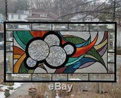 THE INNER CIRCLES Stained Glass Window Panel(Signed and Dated)