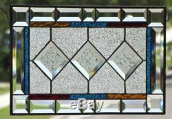The Power of 3 Beveled Stained Glass Window Panel -17 7/8 x 11 3/8