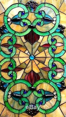 Tiffany Style Stained Glass LAST ONE THIS PRICE Window Panel Victorian Design