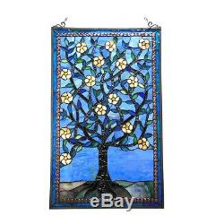 Tiffany Style Stained Glass Window Panel Tree of Life 20 x 32 ONE THIS PRICE