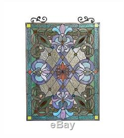 Tiffany Style Victorian Design Stained Glass Window Panel LAST ONE THIS PRICE
