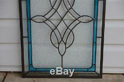 Tiffany Style stained glass Clear Beveled window panel 16 x 24