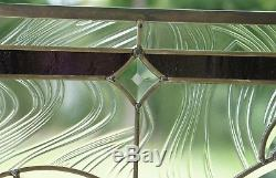 Tiffany Style stained glass Clear Beveled window panel 34.5W x 20.5H