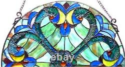 Tiffany-glass Victorian Window Panel 20