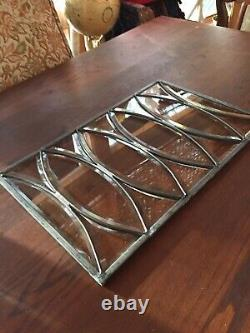 VTG Architectural Beveled Leaded Stained Glass Window Panel 19.5 x 12.5
