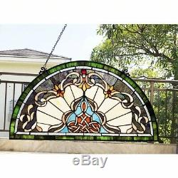 Victorian Design Stained Glass Hanging Window Panel Home Decor Sun Catcher