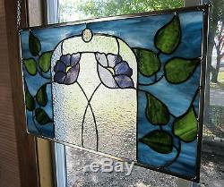 Victorian Floral Stained Glass Windows Panel