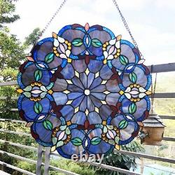 Victorian Style Design Hanging Stained Glass Window Panel Home Decor 20D