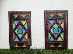 Victorian or contemporary stained glass window panels, hand made to order