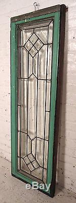 Vintage American Stained Glass Window Panel (08101)NS