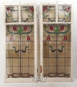 Vintage American Stained Glass Window Panel (2897)NJ
