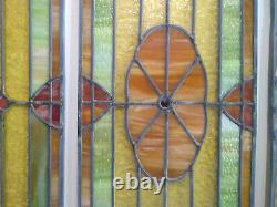 Vintage Leaded & Stained Glass 3-Panel Windows