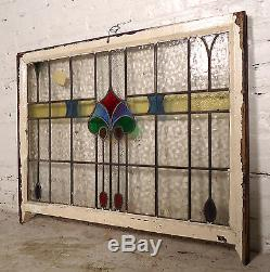 Vintage Stained Glass Window Panel (06582)NS