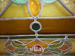 Vintage Stained Glass Window Panel (3269)NJ