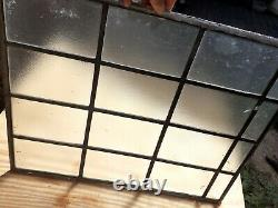 Vintage old Leaded privacy private Glass Panel SQUARES 23 x 18 free shipping