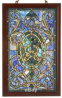 Warehouse of Tiffany-style Boarder Wooden Frame Window Panel