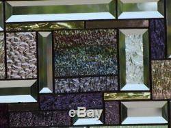 We Come as Two's Set of 2 Beveled Stained Glass Window Panels