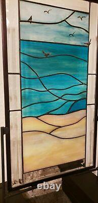 Wear I want to be Beveled Stained Glass Window Panel- Hanging