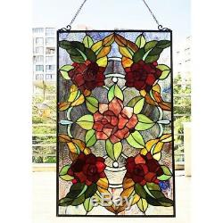 Window Panel Mission Floral Stained Glass Tiffany Style LAST ONE THIS PRICE