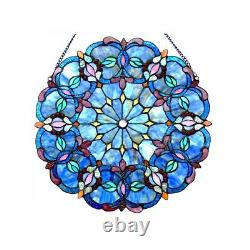 Window Panel Stained Art Glass 20 Round Tiffany Style LAST ONE THIS PRICE