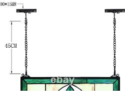 Yogoart Tiffany Style Stained Glass Green WindowithWall Panels 24 X 16